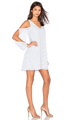 Change of Thought Long Sleeve Tunic Dress in Pale Blue
