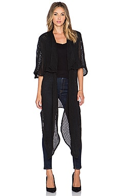 Lumier Law of Attraction Cape Maxi Knit in Black