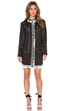 Lumier Night After Night Laser Cut Jacket in Black