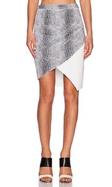 Lumier Snake Charmer Skirt in Snake & White Contrast