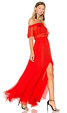 Sol Maxi Dress in Red