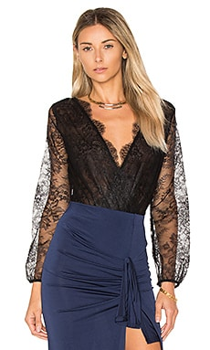 Muse Lace Bodysuit in Black