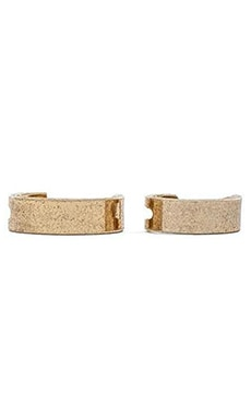 Luv AJ The Saber Ring Set in Antique 24KT Gold
