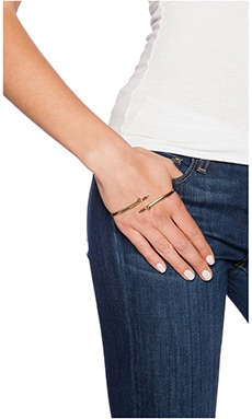 Luv AJ The Thorn Palm Cuff in Antique Gold