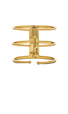 Luv AJ The Triple Spear Bangle in Antique Gold