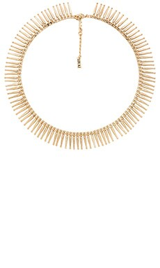 Luv AJ The Mini Spike Fringe Necklace in Antique Gold