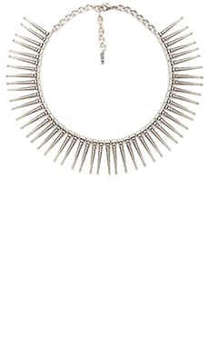 Luv AJ The Spike Flare Necklace in Silver Ox