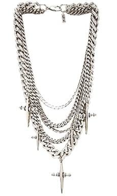 Luv AJ The Multi Chain Cross Necklace in Silver Ox