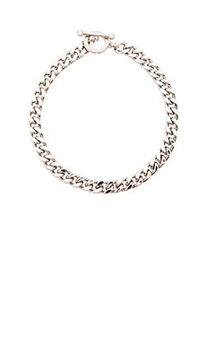 Luv AJ The Barbell Choker Bracelet in Imitation Rhodium