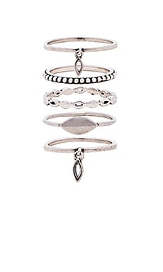 Marquise Ring Set in Silver Ox