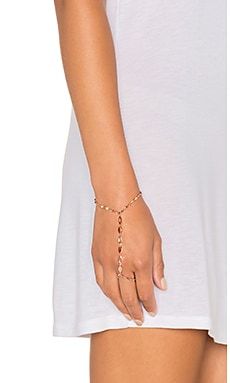Luv AJ Marquise Link Hand Chain in Rose Gold