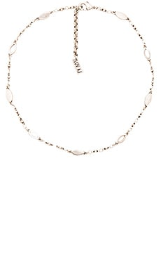 Marquise Link Choker in Silver Ox