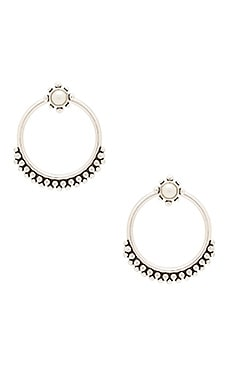 Versailles Two Piece Hoop Earring en Silver Ox