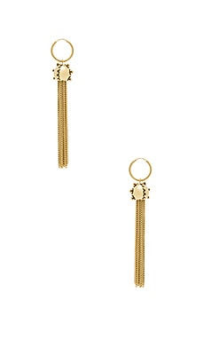 The Baroque Tassel Earrings in Antique Gold