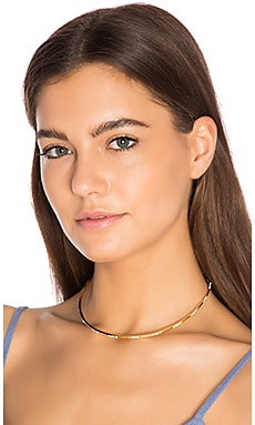 Scattered Pave Choker en Vieil Or