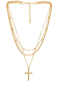 Serpent Cross Charm Necklace Luv AJ $75