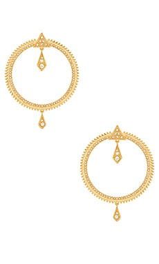 Pave Kite Statement Hoops