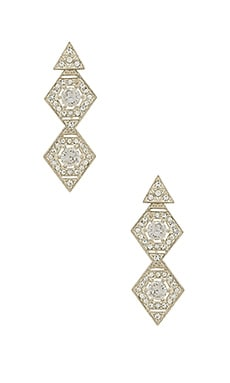 The Pave Kite Disc Earrings