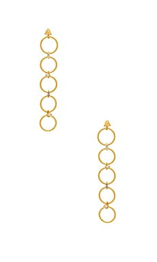 The Scattered Gem Loop Earrings