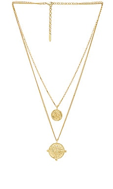 x REVOLVE The Double Coin Charm Necklace Luv AJ $80