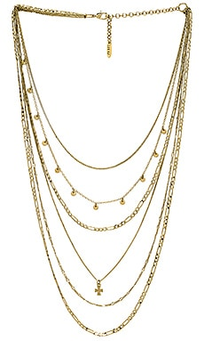 The Hammered Cross Multi Charm Necklace Luv AJ $54
