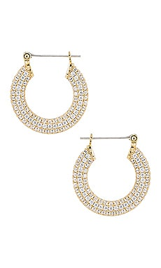 The Pave Baby Amalfi Hoops Luv AJ $110