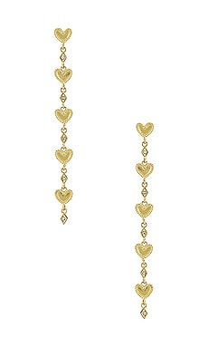 The Dotted Heart Drop Stud Earrings Luv AJ $65