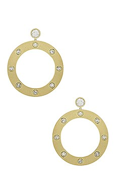 The Adona Statement Hoop Earrings Luv AJ $69