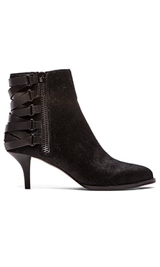 Luxury Rebel Noelle Calf Hair Bootie in Black