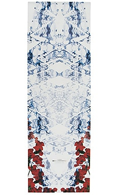 Rose Yoga Mat en Carreaux bleu