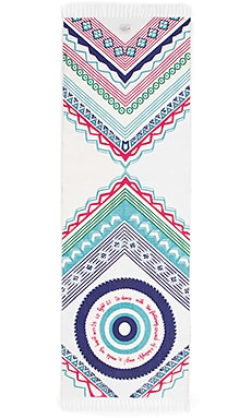 La Vie Boheme Yoga Mandala Yoga Travel Rug in White