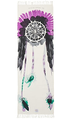 La Vie Boheme Yoga Warrior Yoga Towel in Warrior Print