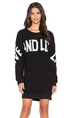 Love Moschino Sweatshirt Dress in Black