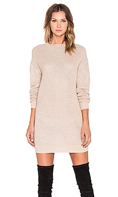 Love Moschino Sweater Dress in Blush & Silver