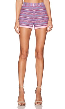Love Moschino Striped Shorts in Pink Multi