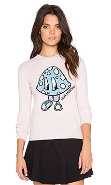 Love Moschino Wool Blend Sweater in Pink