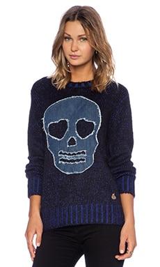 Love Moschino Skull Sweater in Blue