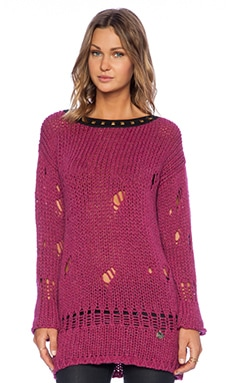 Love Moschino Printed Sweater in Magenta