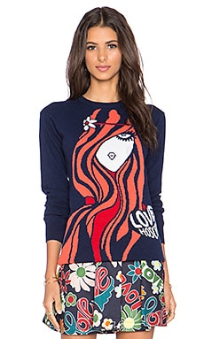 Love Moschino Wool Blend Sweater in Navy