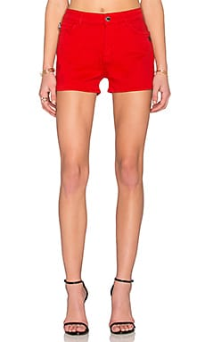 Love Moschino Jean Shorts in Red