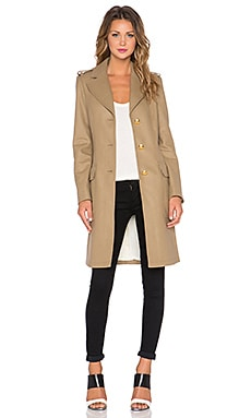 Love Moschino Two Pocket Coat in Camel
