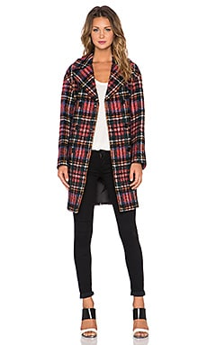 Love Moschino Plaid Coat in Red