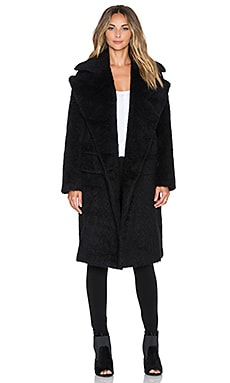 Love Moschino Textured Coat in Black