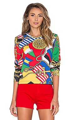Love Moschino Nautical Sweatshirt in Print
