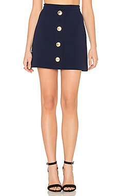 Love Moschino Button Skirt in Navy