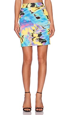 Love Moschino Mini Skirt in Tie Dye