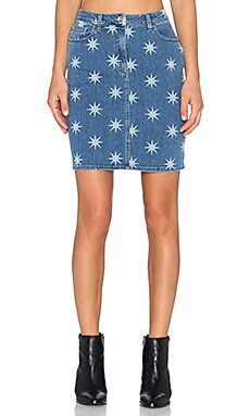 Love Moschino Star Skirt in Denim