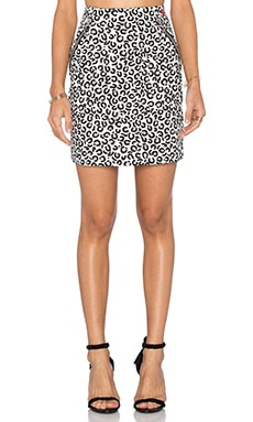 Love Moschino Front Zipper Pockets Mini Skirt in Animal