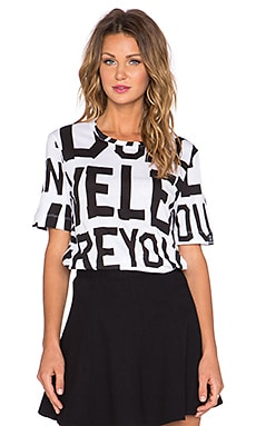Love Moschino Graphic Tee in White & Black