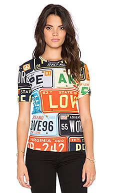 Love Moschino Graphic Tee in Multi